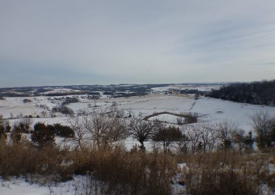 Winter view from lookout